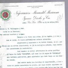 Documentos antiguos: CARTA COMERCIAL. MERCERIA FERRETERIA. NEGOCIACION MERCANTIL MEXICANA. 1912. SAN LUIS POTOSI. Lote 118868719