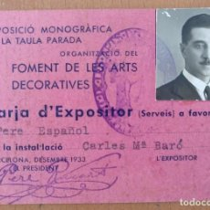 Documentos antiguos: CARNET FOMENT DE LES ARTS DECORATIVES (FAD) BARCELONA 1933 10 X 7 CM (APROX). Lote 118988027