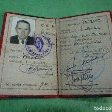 Documentos antiguos: RARO CARNET CNS COMERCIO REPRESENTANTES SANTANDER 1954 FALANGE. Lote 119096315