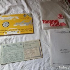 Documentos antiguos: ANTIGUO LIBRETO DE LETRAS TOURING CLUB SUISSE LETTRE DE CREDIT A.I.T ,1969. Lote 119116043