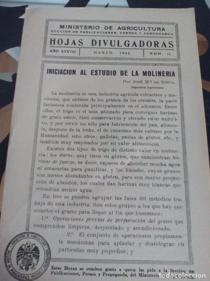 INICIACIÓN A LA MOLINERÍA /MOLER (Coleccionismo - Documentos - Otros documentos)