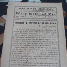 Documentos antiguos: INICIACIÓN A LA MOLINERÍA /MOLER. Lote 119158887