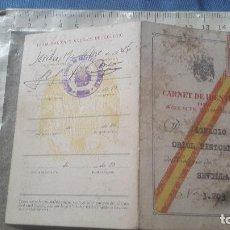 Documentos antiguos: CARNET DE IDENTIDAD DE AGENTE COMERCIAL DEL AÑO 1945. Lote 119222491