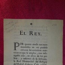 Documentos antiguos: MANDATO DE CUMPLIMIENTO DE REAL RESOLUCIÓN 1771. Lote 119236198