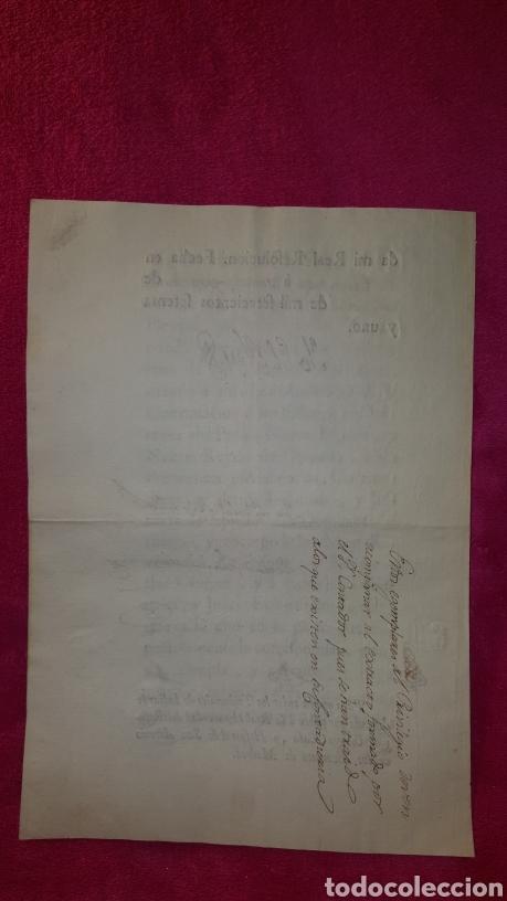 Documentos antiguos: MANDATO DE CUMPLIMIENTO DE REAL RESOLUCIÓN 1771 - Foto 4 - 119236198