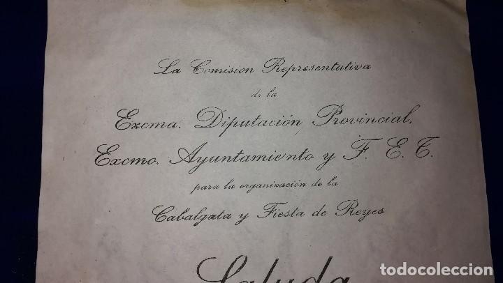 Documentos antiguos: ANTIGUA CARTA DIPUTACION PROVINCIAL DE BADAJOZ, EPOCA GUERRA CIVIL.DIRIGIDA A BAZAR LA LUZ.AÑO 1938 - Foto 2 - 119502091