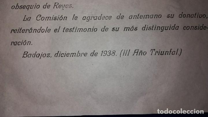Documentos antiguos: ANTIGUA CARTA DIPUTACION PROVINCIAL DE BADAJOZ, EPOCA GUERRA CIVIL.DIRIGIDA A BAZAR LA LUZ.AÑO 1938 - Foto 3 - 119502091