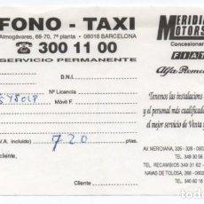 Documentos antiguos: (ALB-TC-23) RECIBO DE PAGO TAXI FONO TAXI AÑOS 90. Lote 119580159