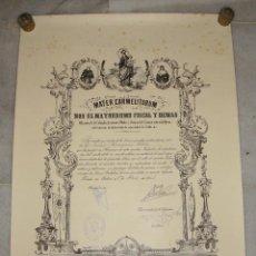 Documentos antiguos: MATER CARMELITARUM. HERMANO MAYOR. COFRADÍA VIRGEN DEL CARMEN. CADIZ. 1965. Lote 120345175