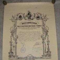 Documentos antiguos: MATER CARMELITARUM. HERMANO MAYOR. COFRADÍA VIRGEN DEL CARMEN. CADIZ. 1965. Lote 120345379