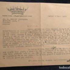 Documentos antiguos: ANTIGUA CARTA COMERCIAL CARLOS SERRANO PERFUMERÍA 1953. Lote 120358507