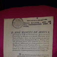 Documentos antiguos: NORMAS PARA EL FUNCIONAMIENTO DE LOS TEATROS. 1818. Lote 120844196
