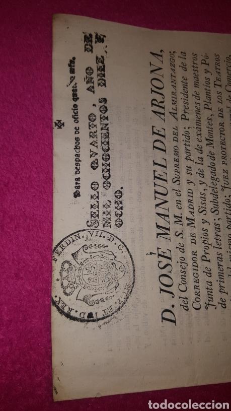 Documentos antiguos: NORMAS PARA EL FUNCIONAMIENTO DE LOS TEATROS. 1818 - Foto 2 - 120844196