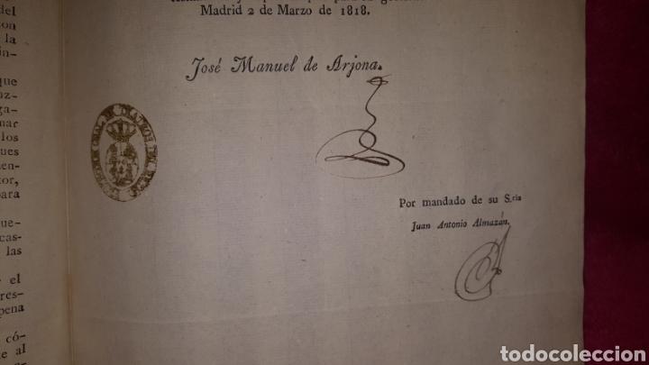 Documentos antiguos: NORMAS PARA EL FUNCIONAMIENTO DE LOS TEATROS. 1818 - Foto 6 - 120844196