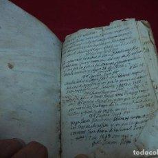 Documentos antiguos: LIBRO O CUADERNO DE ANOTACIONES DE RECIBÍ. MALLORCA. BALEARES.. Lote 121267143