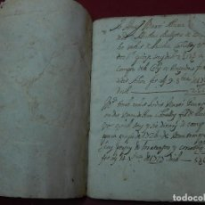 Documentos antiguos: LIBRO O CUADERNO DE ANOTACIONES. MALLORCA. BALEARES.. Lote 121452147