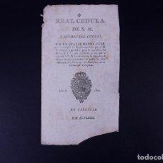 Documentos antiguos: REAL CEDULA DE EXACCION DE UN NOVENO DE TODOS LOS DIEZMOS, PALENCIA 1801. Lote 121589999