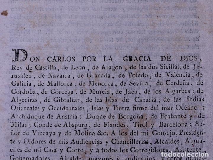 Documentos antiguos: REAL CEDULA DE EXACCION DE UN NOVENO DE TODOS LOS DIEZMOS, PALENCIA 1801 - Foto 3 - 121589999