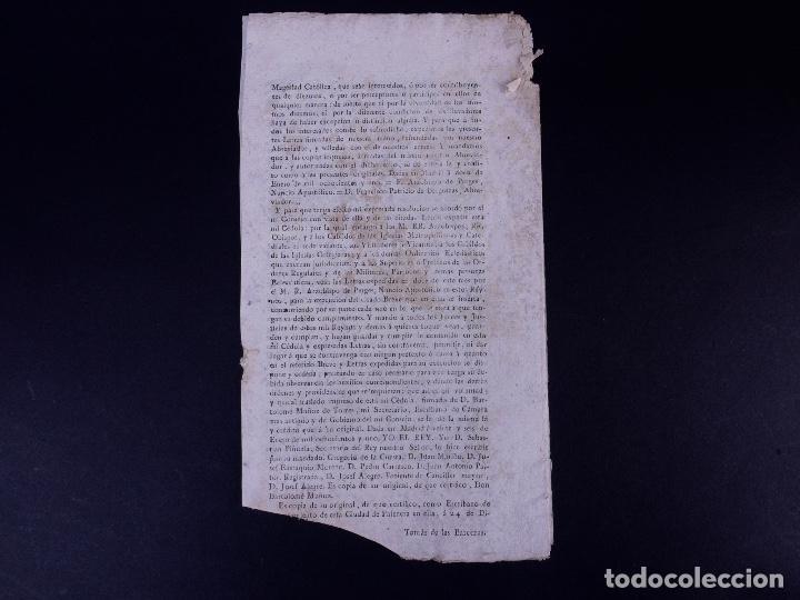 Documentos antiguos: REAL CEDULA DE EXACCION DE UN NOVENO DE TODOS LOS DIEZMOS, PALENCIA 1801 - Foto 7 - 121589999