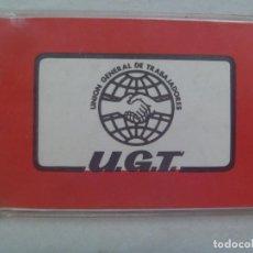 Documentos antiguos: CARNET DE LA UGET , UNION GENERAL DE TRABAJADORES. 1980 . TRABAJADOR DE ABENGOA. Lote 121668415