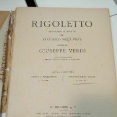 Documentos antiguos: OPERA 1851 TEATRO LA FENICE EN VENETIAN. Lote 121679804
