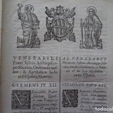 Documentos antiguos: PAPA CLEMENTE XII AL NUNCIO DE ESPAÑA FRAUDES DE PATRIMONIOS PARA HACERSE CLÉRIGOS, 6 PAGS, 1737. Lote 122025259