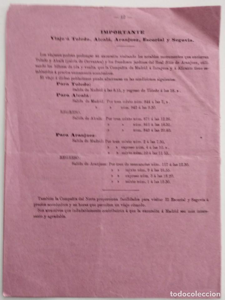 Documentos antiguos: FOLLETO TARIFAS ESPECIALES FERROCARRILES BODA REY DON ALFONSO XIII AÑO 1906 - Foto 4 - 122099495