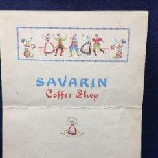 Documentos antiguos: MENU CARTA RESTAURANTE SAVARIN COFFEE SHOP WALDORF ASTORIA LEXINGTON AVENUE NEW YORK 27X20CMS. Lote 122142439