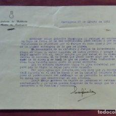 Documentos antiguos: CARTAGENA.REGIMIENTO DE ARTILLERÍA DE COSTA.1952.. Lote 122292327
