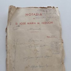 Documentos antiguos: 1943, ESCRITURA DE COMPRA-VENTA CON 5 PÁGINAS Y CUBIERTAS. Lote 54367346