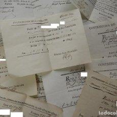 Documentos antigos: LOTE DE RECIBOS. CONTRIBUCIÓN ALUMBRADO. SIGLO XIX. PALMA MALLORCA. BALEARES.. Lote 122465687