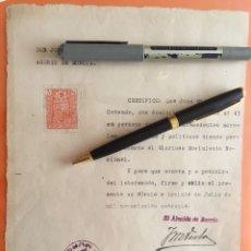Documentos antiguos: MURCIA- BARRIO DE SAN ANDRES- 1.940 - CERTIFICADO CONDUCTA- GUERRA CIVIL. Lote 122686179