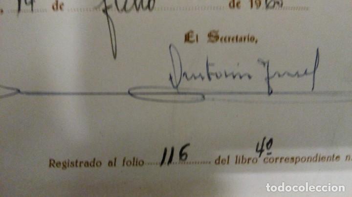 Documentos antiguos: Jaén título instituto Virgen del Carmen - Foto 4 - 122705979