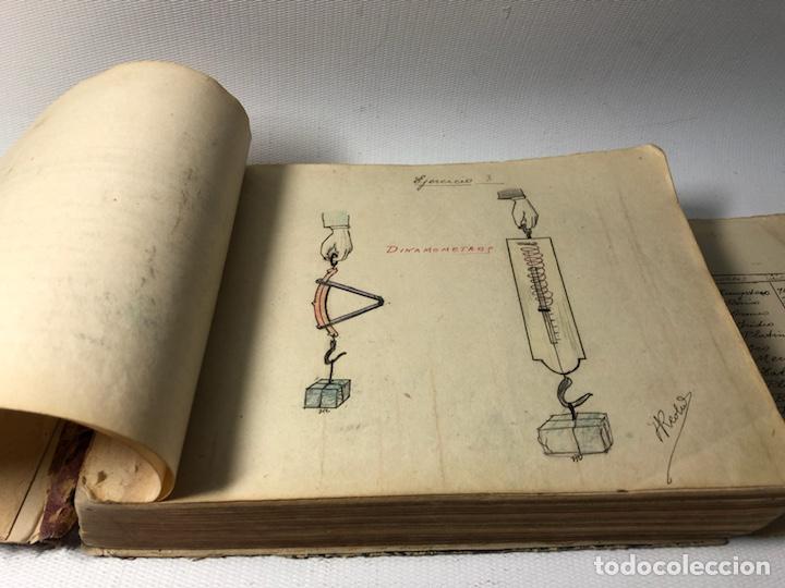 Documentos antiguos: MANUSCRITO DE MECANICA Y FISICA CON 394 EJERCICIOS REALIZADOS ,AÑOS 40..50 - Foto 5 - 122815215