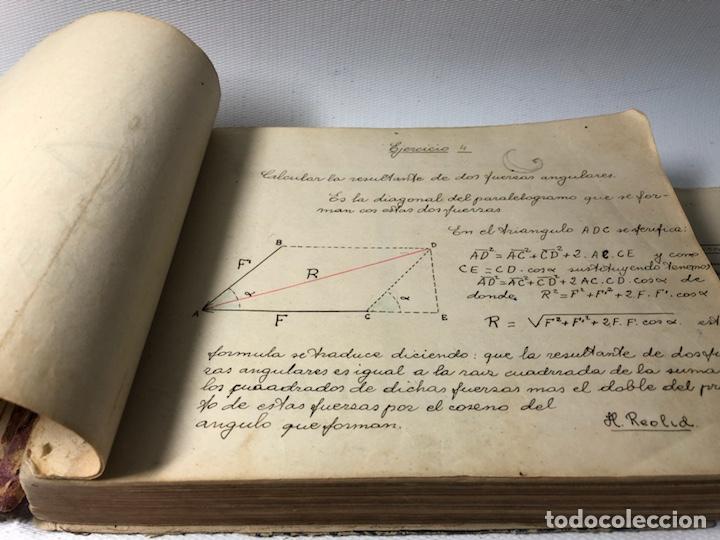 Documentos antiguos: MANUSCRITO DE MECANICA Y FISICA CON 394 EJERCICIOS REALIZADOS ,AÑOS 40..50 - Foto 6 - 122815215