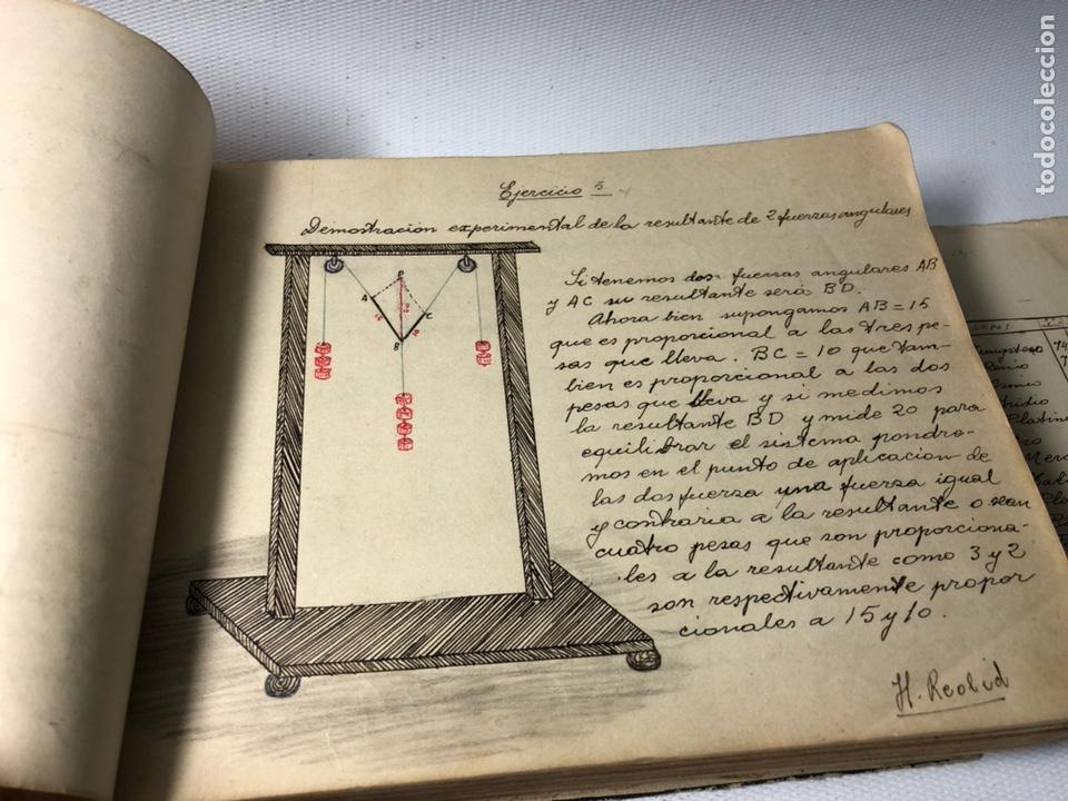 Documentos antiguos: MANUSCRITO DE MECANICA Y FISICA CON 394 EJERCICIOS REALIZADOS ,AÑOS 40..50 - Foto 7 - 122815215