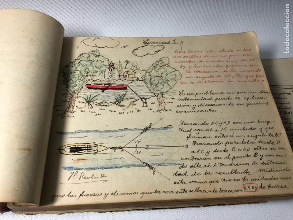Documentos antiguos: MANUSCRITO DE MECANICA Y FISICA CON 394 EJERCICIOS REALIZADOS ,AÑOS 40..50 - Foto 8 - 122815215