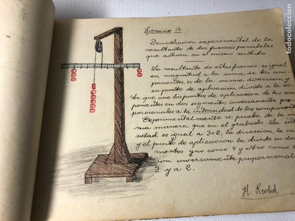 Documentos antiguos: MANUSCRITO DE MECANICA Y FISICA CON 394 EJERCICIOS REALIZADOS ,AÑOS 40..50 - Foto 10 - 122815215
