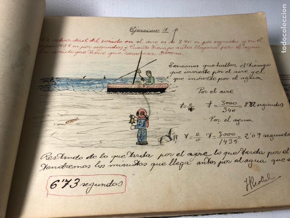 Documentos antiguos: MANUSCRITO DE MECANICA Y FISICA CON 394 EJERCICIOS REALIZADOS ,AÑOS 40..50 - Foto 11 - 122815215