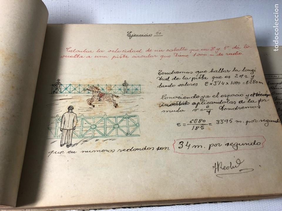 Documentos antiguos: MANUSCRITO DE MECANICA Y FISICA CON 394 EJERCICIOS REALIZADOS ,AÑOS 40..50 - Foto 12 - 122815215