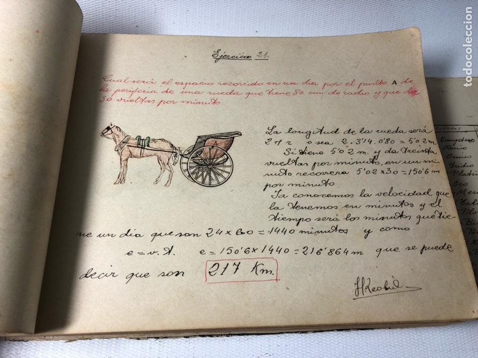 Documentos antiguos: MANUSCRITO DE MECANICA Y FISICA CON 394 EJERCICIOS REALIZADOS ,AÑOS 40..50 - Foto 13 - 122815215