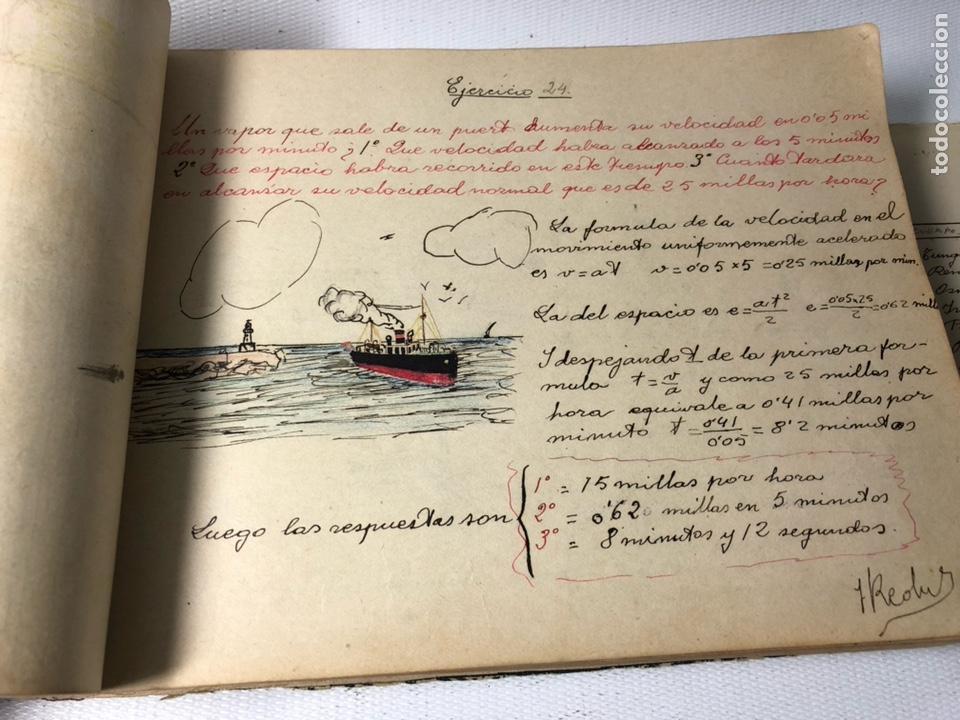 Documentos antiguos: MANUSCRITO DE MECANICA Y FISICA CON 394 EJERCICIOS REALIZADOS ,AÑOS 40..50 - Foto 15 - 122815215