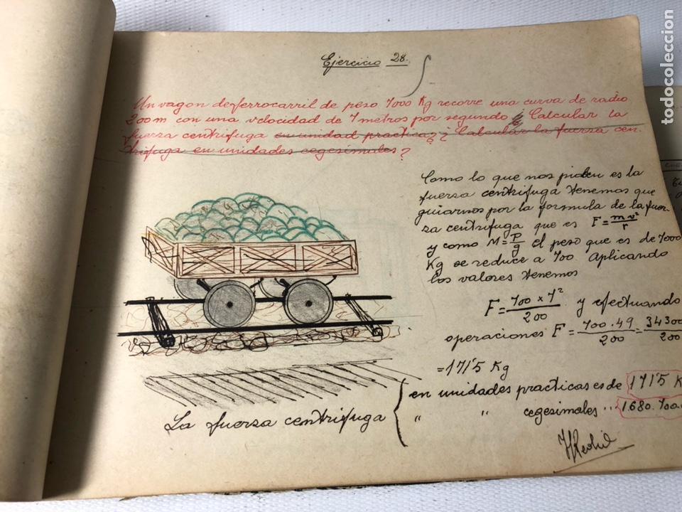 Documentos antiguos: MANUSCRITO DE MECANICA Y FISICA CON 394 EJERCICIOS REALIZADOS ,AÑOS 40..50 - Foto 16 - 122815215
