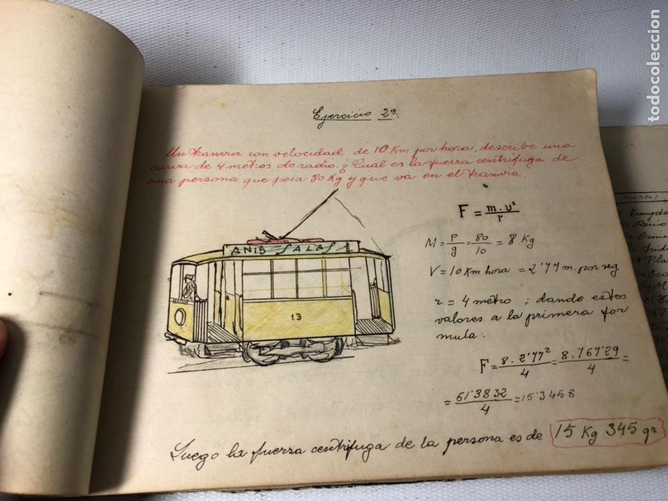 Documentos antiguos: MANUSCRITO DE MECANICA Y FISICA CON 394 EJERCICIOS REALIZADOS ,AÑOS 40..50 - Foto 17 - 122815215