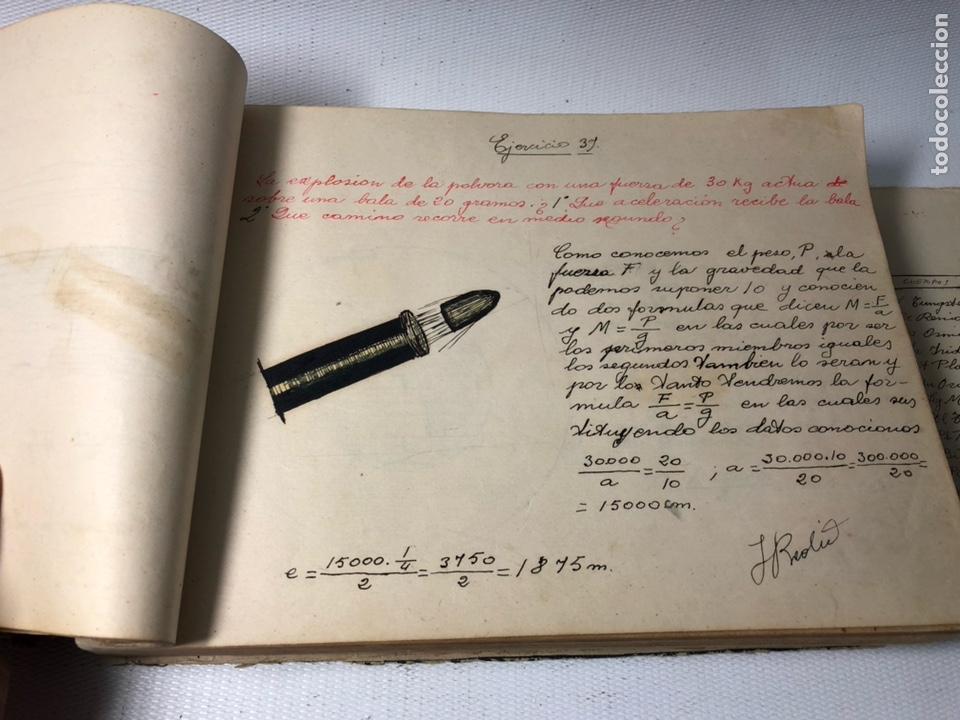 Documentos antiguos: MANUSCRITO DE MECANICA Y FISICA CON 394 EJERCICIOS REALIZADOS ,AÑOS 40..50 - Foto 18 - 122815215