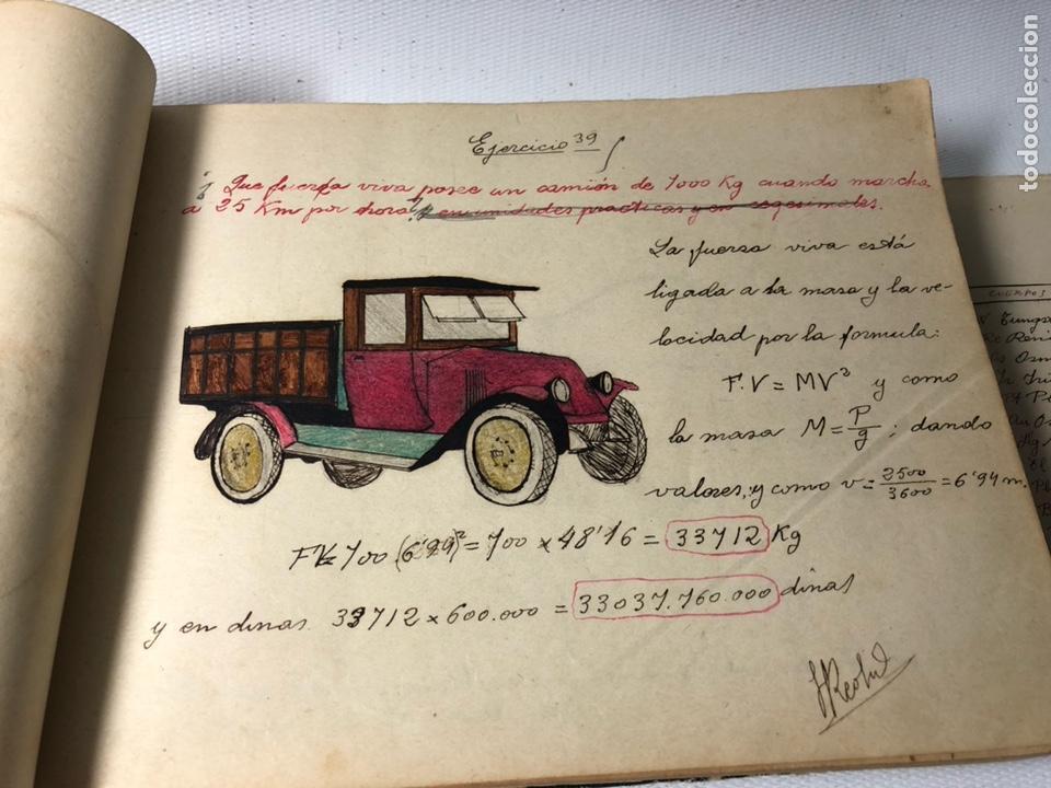 Documentos antiguos: MANUSCRITO DE MECANICA Y FISICA CON 394 EJERCICIOS REALIZADOS ,AÑOS 40..50 - Foto 19 - 122815215