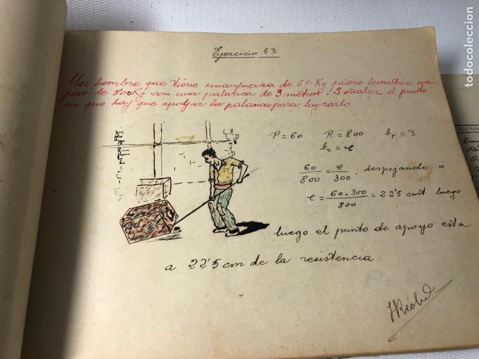 Documentos antiguos: MANUSCRITO DE MECANICA Y FISICA CON 394 EJERCICIOS REALIZADOS ,AÑOS 40..50 - Foto 20 - 122815215