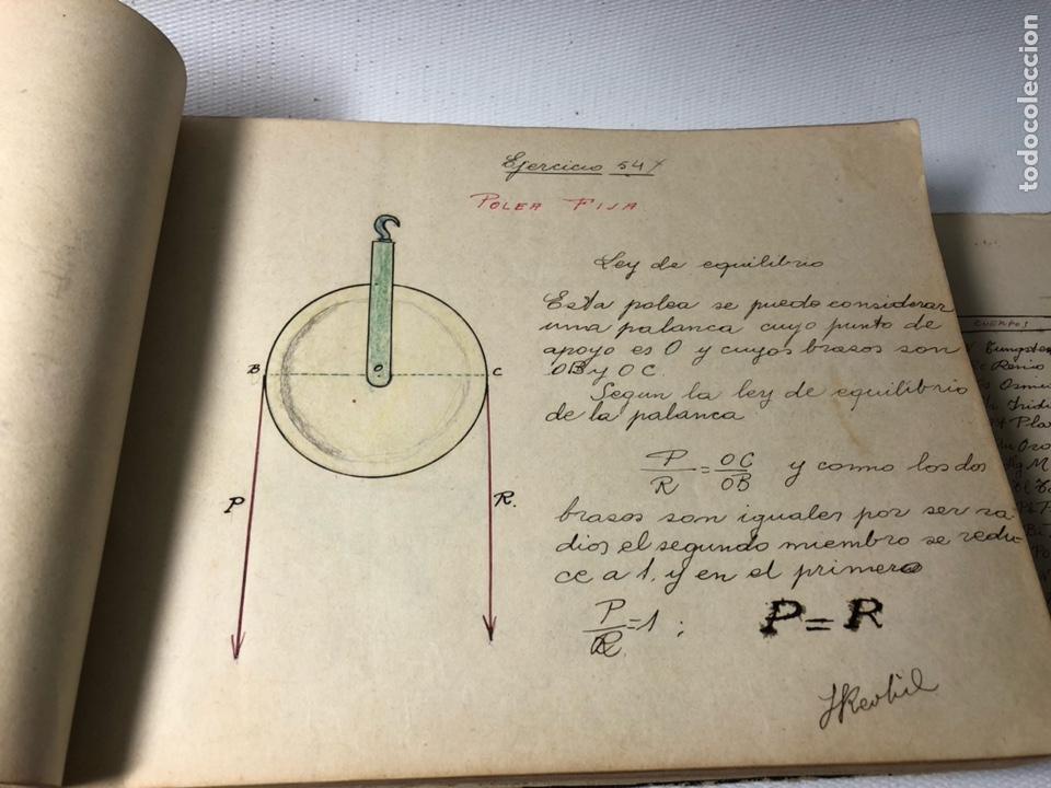 Documentos antiguos: MANUSCRITO DE MECANICA Y FISICA CON 394 EJERCICIOS REALIZADOS ,AÑOS 40..50 - Foto 21 - 122815215