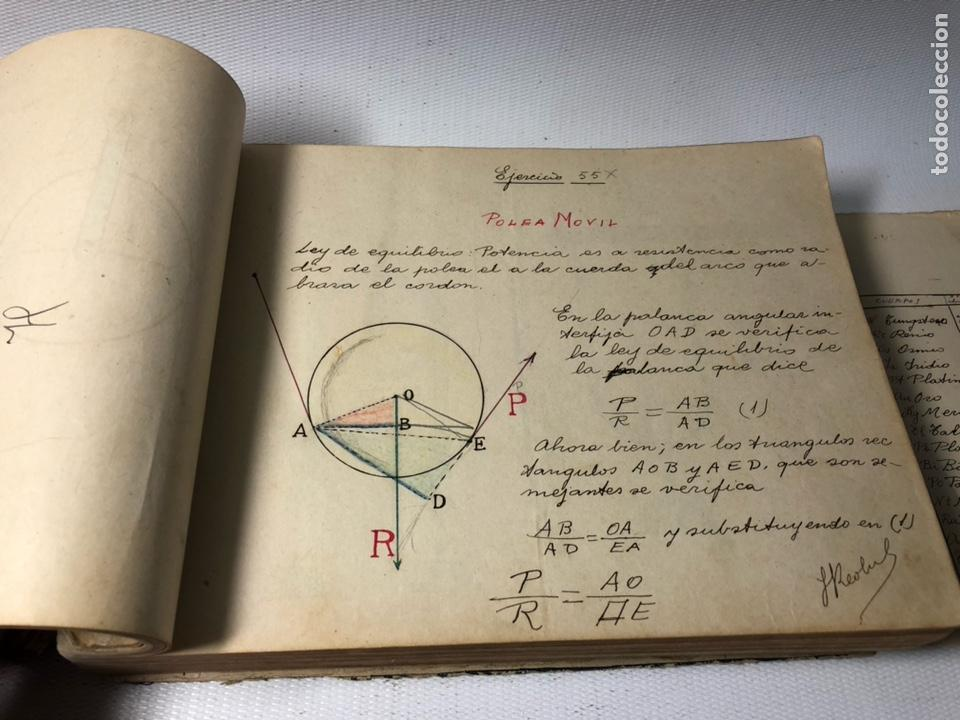 Documentos antiguos: MANUSCRITO DE MECANICA Y FISICA CON 394 EJERCICIOS REALIZADOS ,AÑOS 40..50 - Foto 22 - 122815215