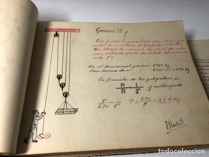 Documentos antiguos: MANUSCRITO DE MECANICA Y FISICA CON 394 EJERCICIOS REALIZADOS ,AÑOS 40..50 - Foto 23 - 122815215